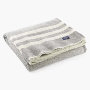 Trapper Wool Throw - Gray / Natural