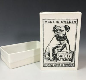 Ceramic Vintage Matchbox - Dog