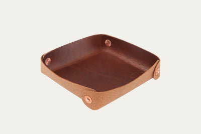 Valet Tray - Small - Oiled Leather