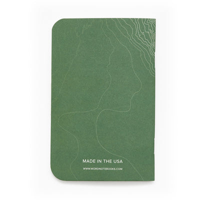 Word. Notebooks - Green Terrain (3 Pack)