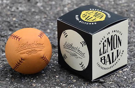 LEMON BALL™ Baseball - Glove Tan Leather w/ Black Stitching