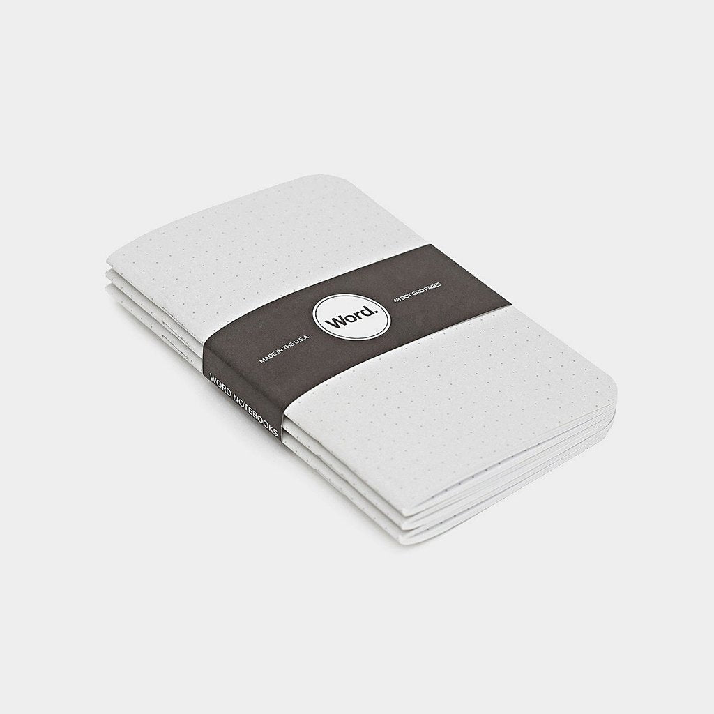 Word. Notebooks - Dot Grid (3 Pack)