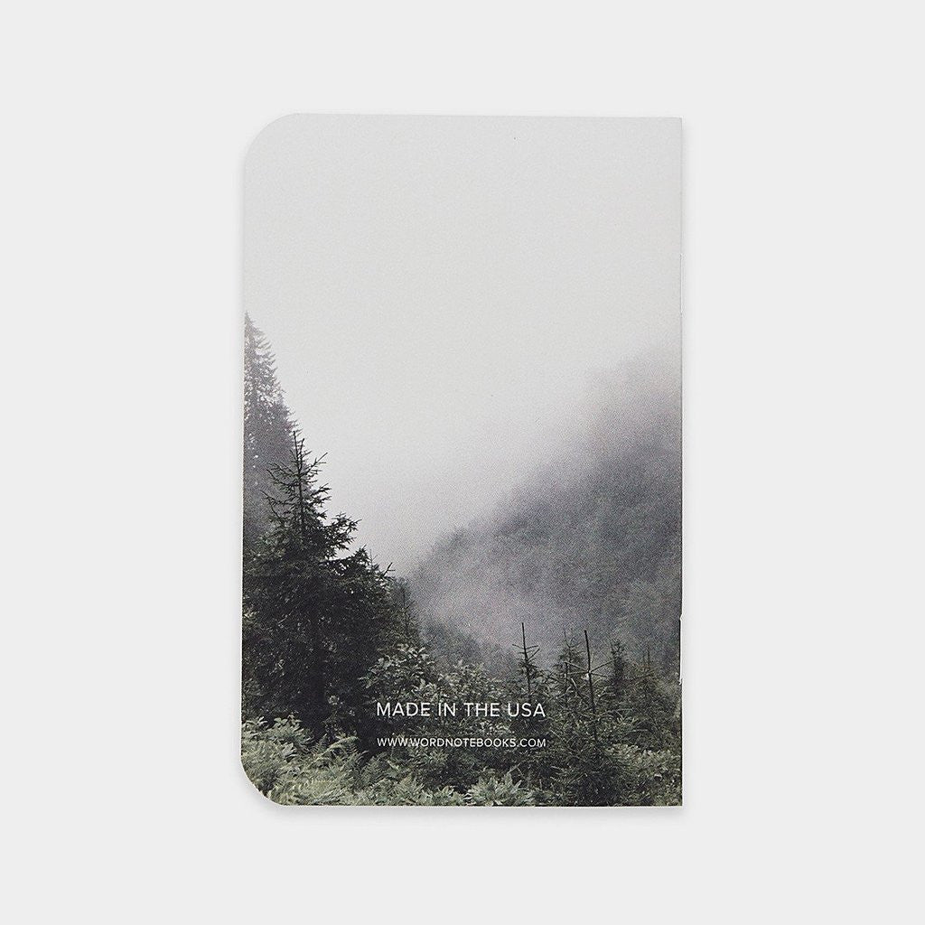 Word. Notebooks - Mist (3 Pack)