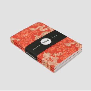 Word. Notebooks - Red Dragon (3 Pack)