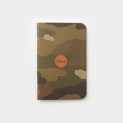 Word. Notebooks - Traditional Camo (3 Pack)