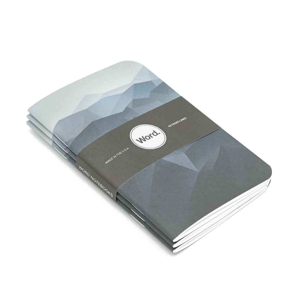 Word. Notebooks - Blue Mountain (3 Pack)