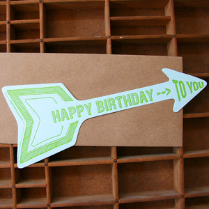 Arrow Birthday Card