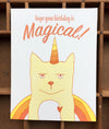 Caticorn Birthday Card