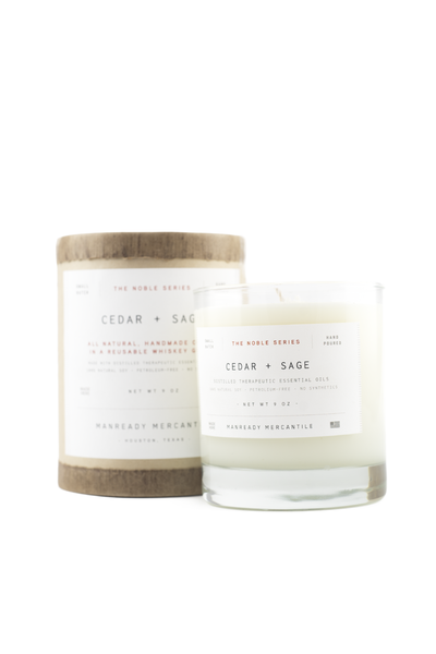 The Noble Series Soy Candle - Cedar + Sage