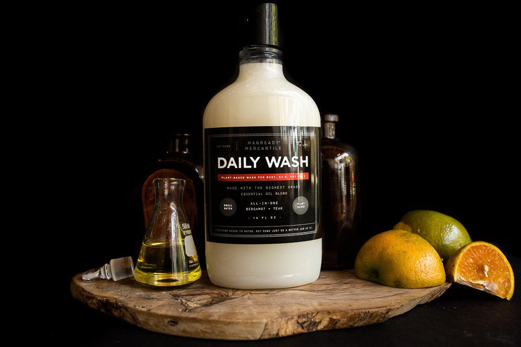 All-In-One Daily Bodywash - Bergamot + Teak