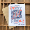 King of Hearts Dad Card