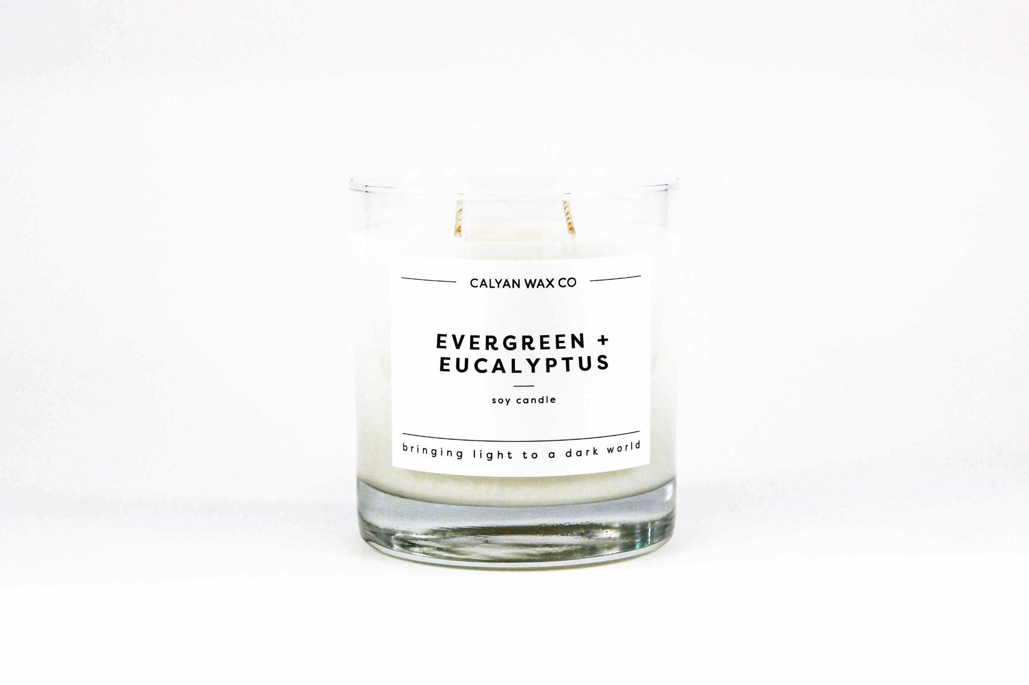 Evergreen + Eucalyptus Glass Tumbler