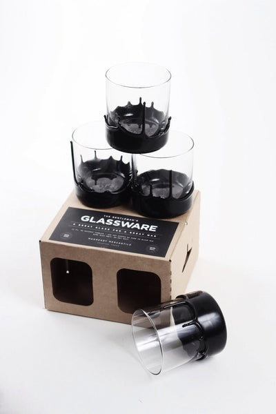 The Gentleman's Glassware - Wax Dipped Whiskey Glasses