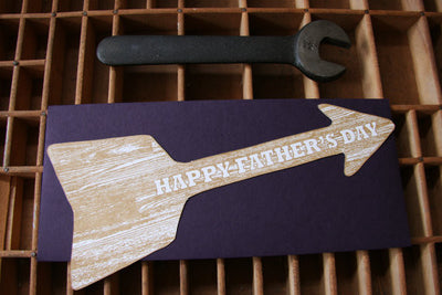 Father's Day Wood Arrow Card