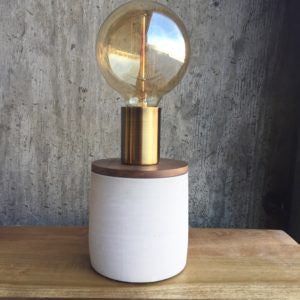Concrete Lamp – Tall / Birch