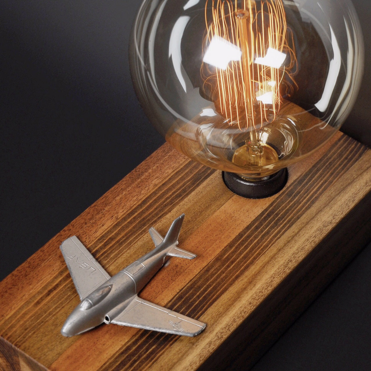 Touch Sensor Lamp - Vintage Airplane
