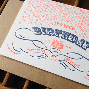 Fluorescent Celebrate Birthday Card