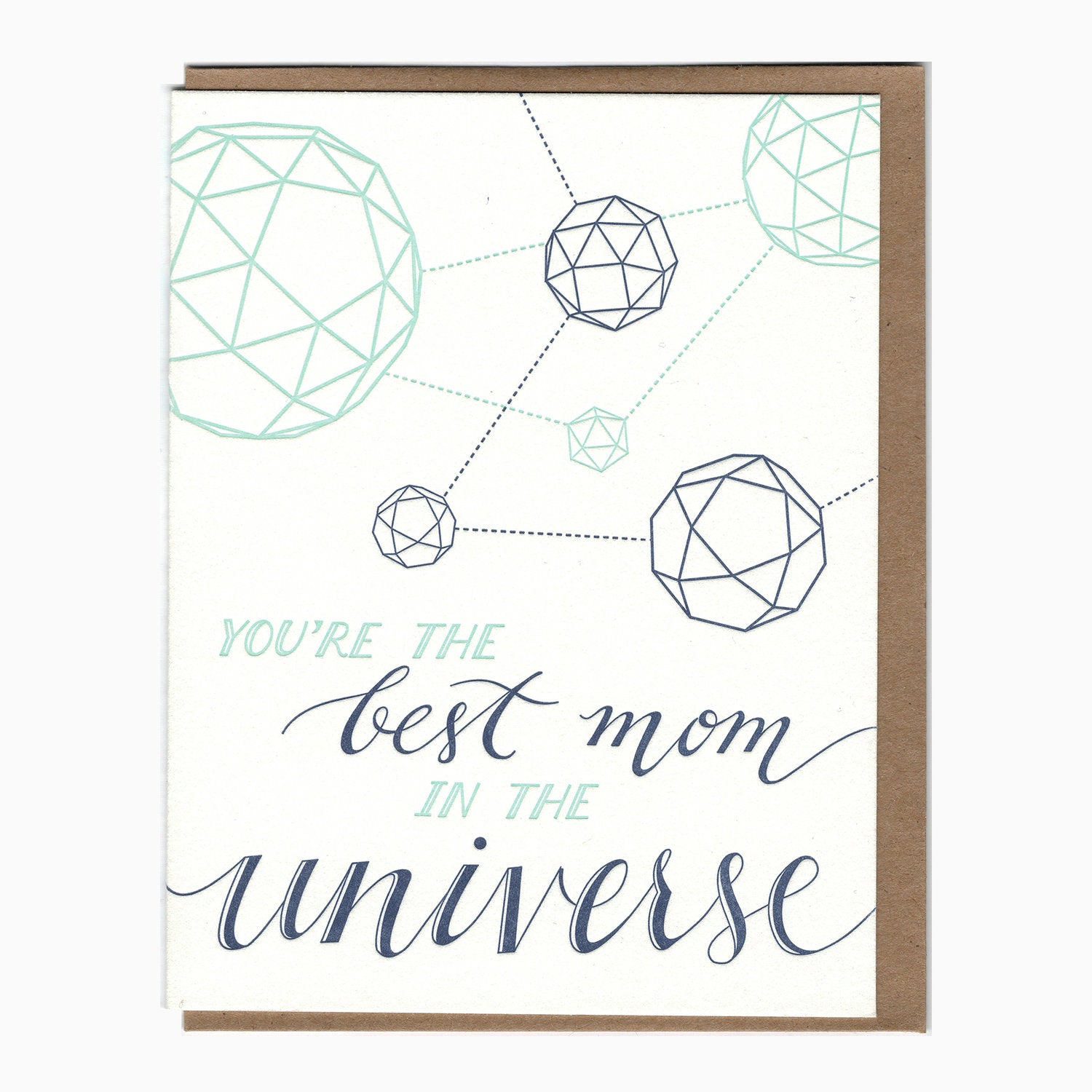Best Mom in the Universe Polyhedron Card