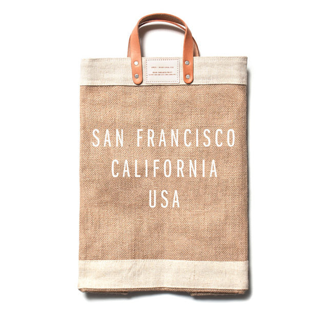 City Series Market Bag - Natural - San Francisco