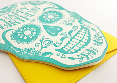 Sugar Skull Birthday Card
