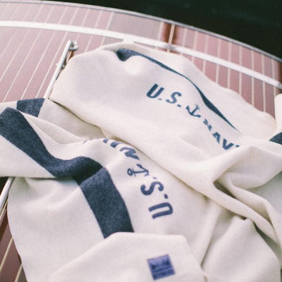 Foot Soldier Military Wool Blanket - US Navy Cream