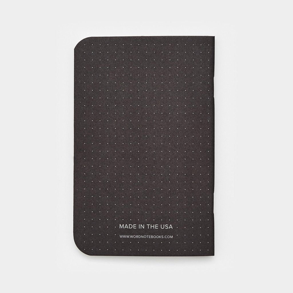 Word. Notebooks - Black Dot Grid (3 Pack)