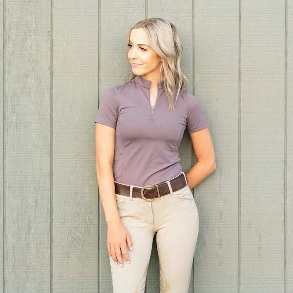 The 'QUINN' Essential Competition Short Sleeve | Purple Sage