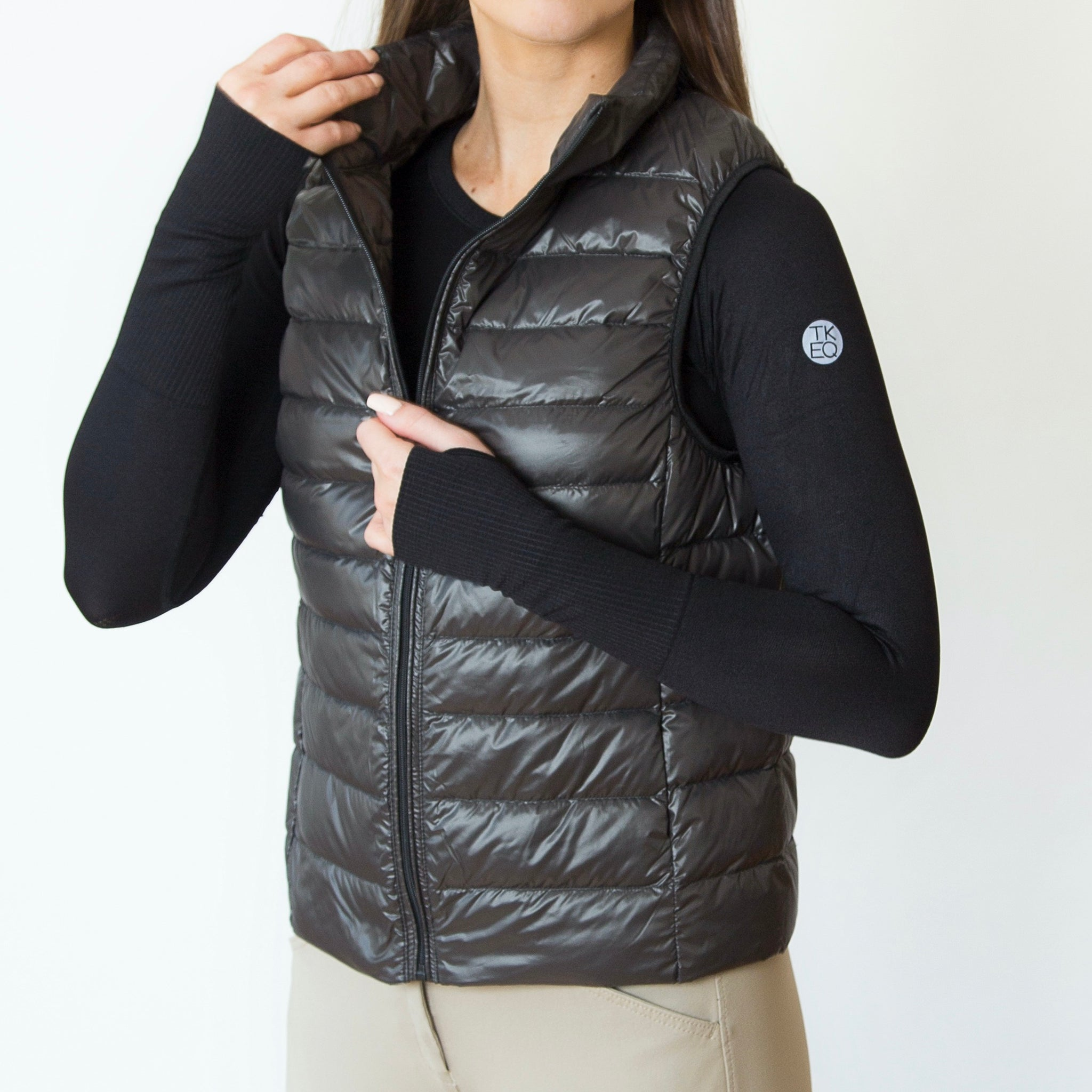 The 'EZ' Packable Down Vest | Truffle