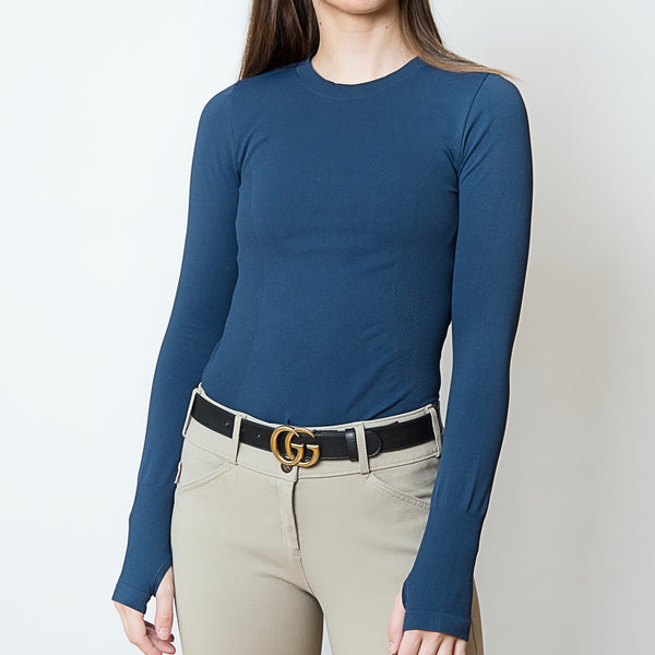 TKEQ ESSENTIAL™: Seamless Long Sleeve | Marine