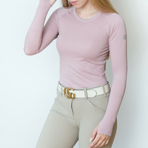 The 'KENNEDY' Seamless Long Sleeve | Porcelain