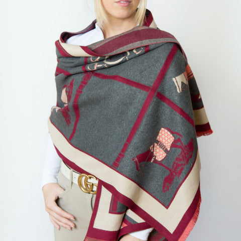 HARRISBURG Shawl | Rich Burgundy
