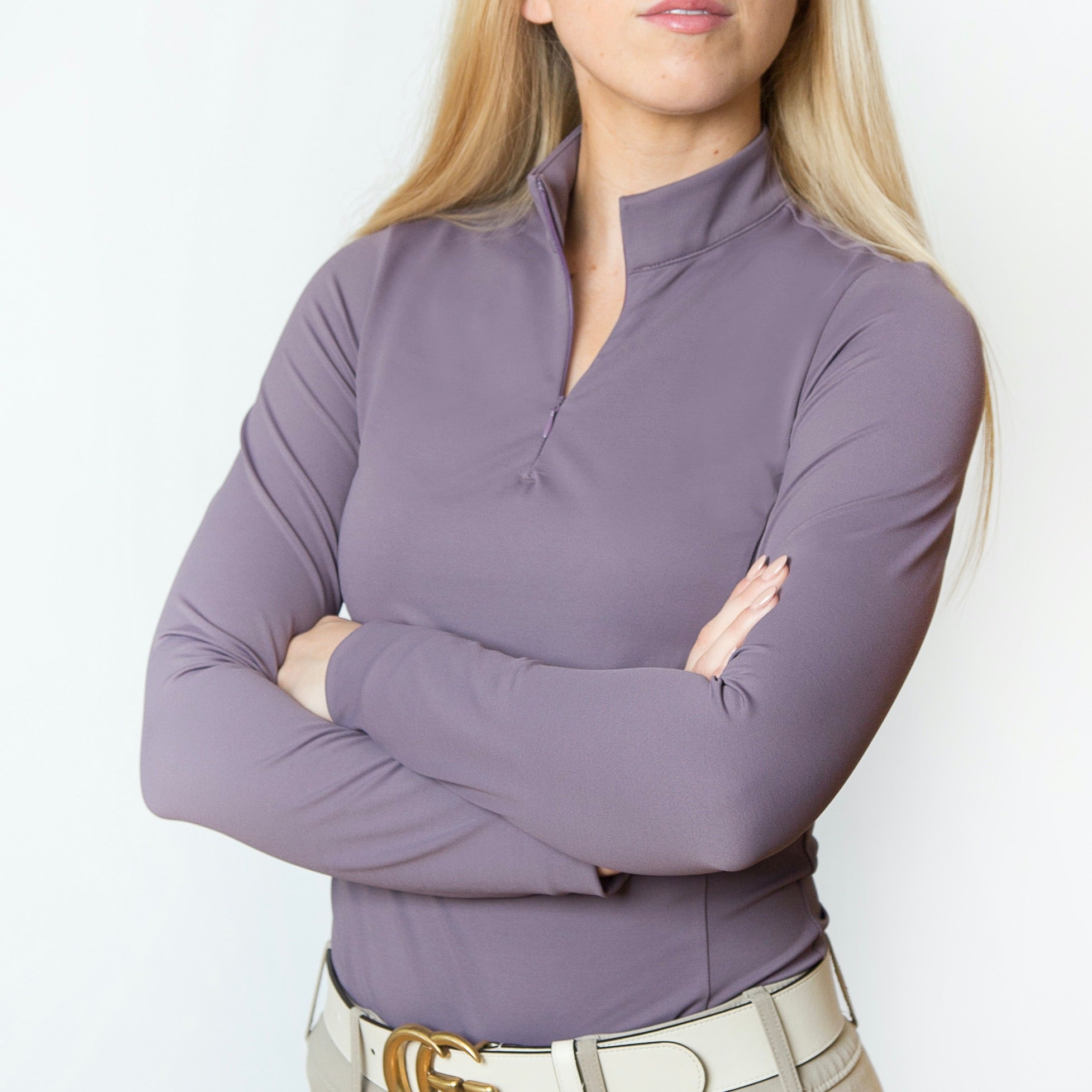 The 'QUINN' Essential Competition Long Sleeve | Purple Sage