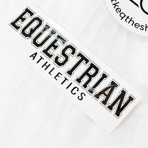 EQUESTRIAN ATHLETICS Vinyl Sticker | Classic Black