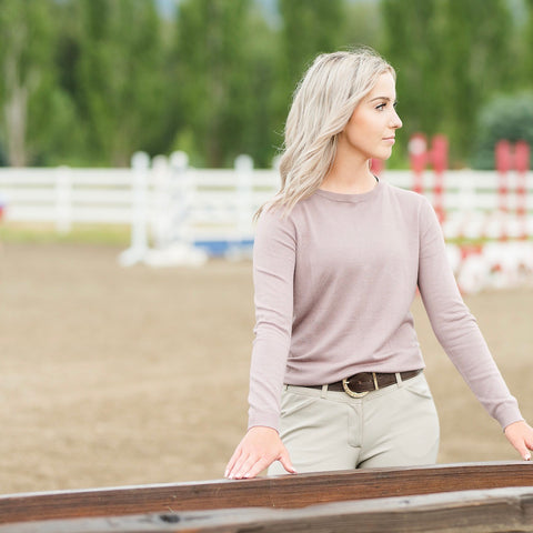 TKEQ ESSENTIAL™: Crewneck Sweater | Lavender