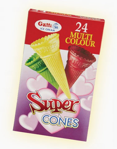 Multi Colour Ice Cream Cones