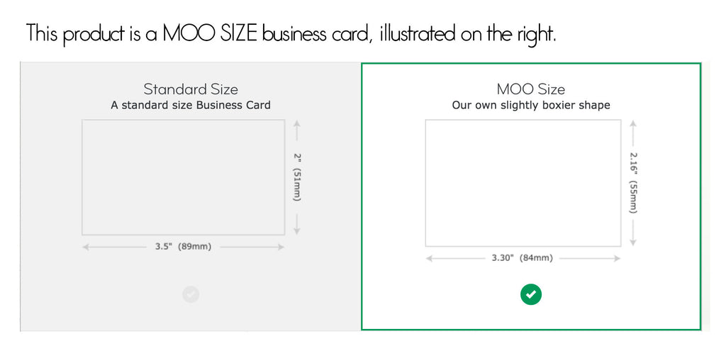 moo business card size - Standard Size Business Card