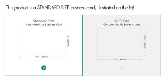 standard business card by moo - Standard Size Business Card