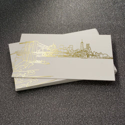 Gold foil business cards nycelisting gold foil brooklyn bridge business cards colourmoves