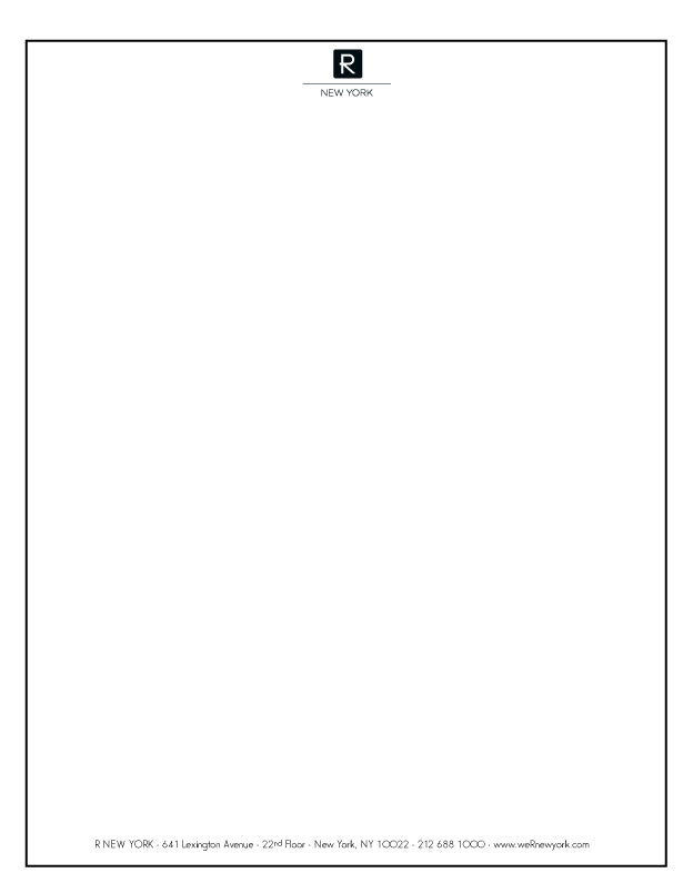 r new york luxe letterhead by moo nycelisting