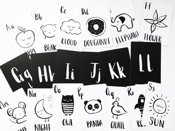 'Alphabet' Print & Flashcard Set