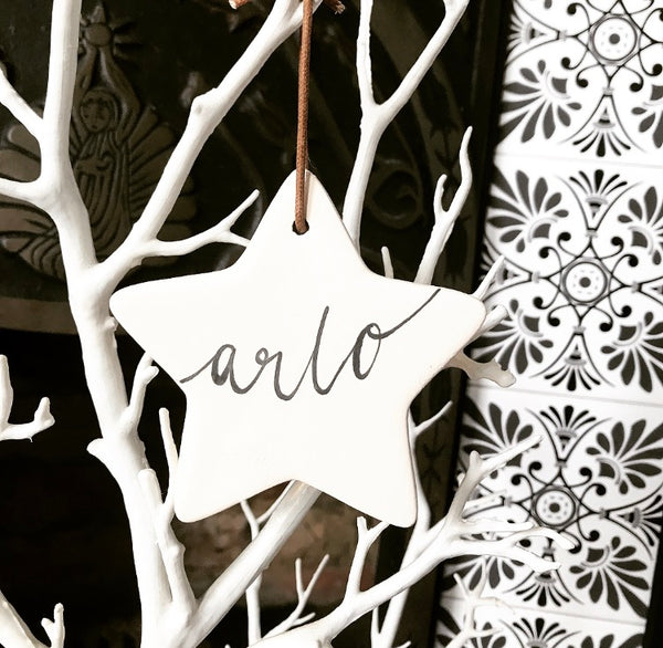 Personalised Christmas Tree Decoration - Star