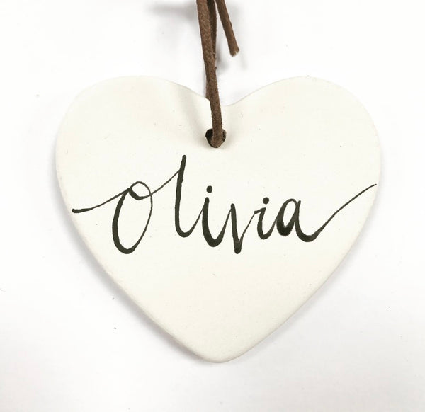 Personalised Christmas Tree Decoration - Heart