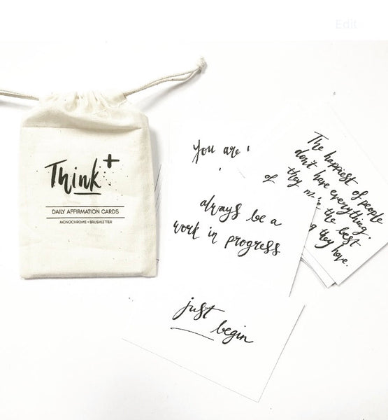 Think+ Daily Affirmation Cards