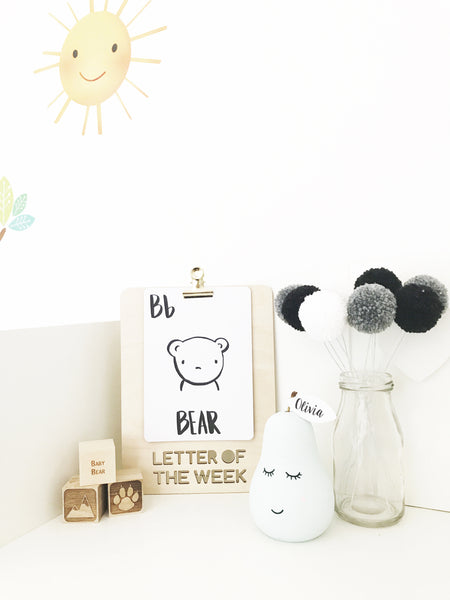 Alphabet Flashcard Set + Sound of the Week Clip Board