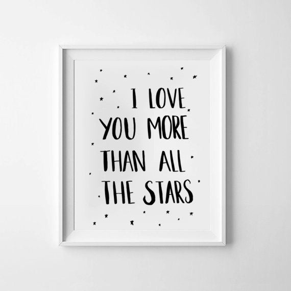 'All The Stars' Monochrome Print