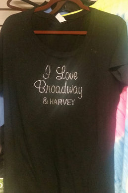 I Love Broadway (& Harvey) Fan T-Shirt -