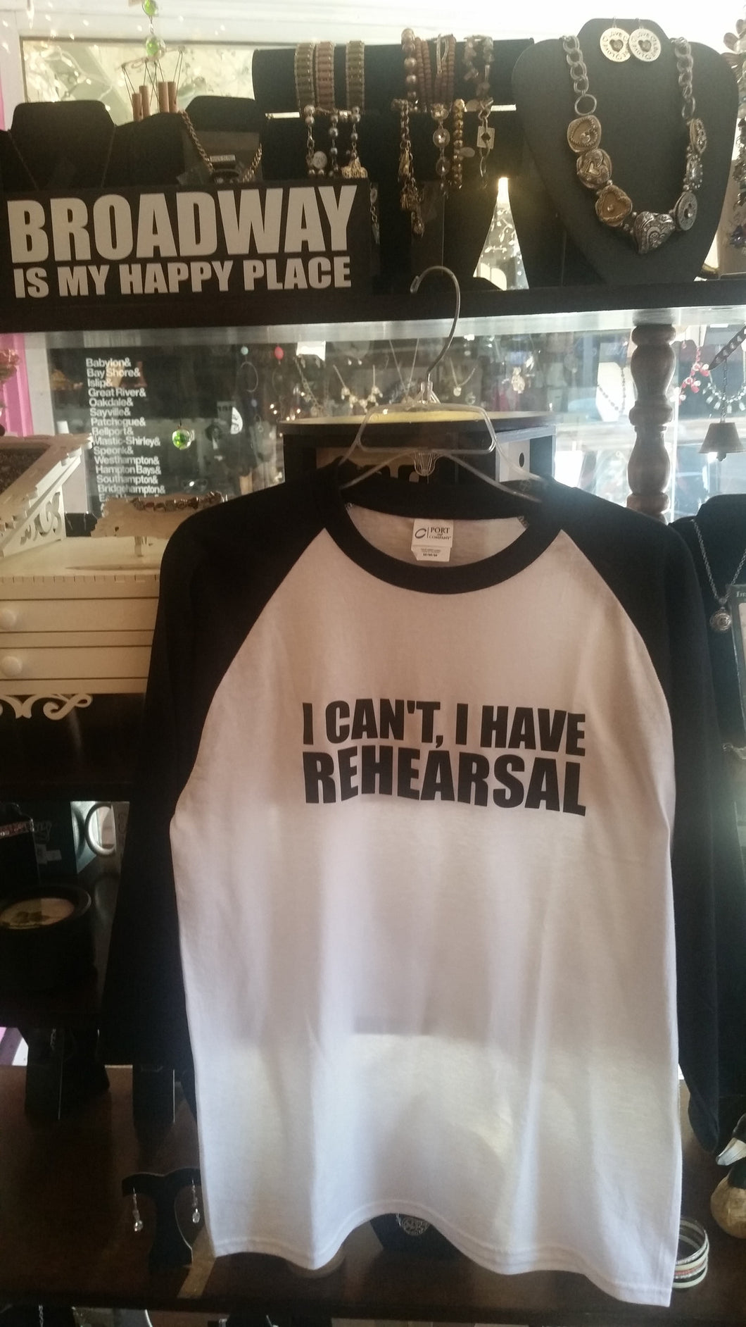 I Can't I Have Rehearsal Baseball T-Shirt