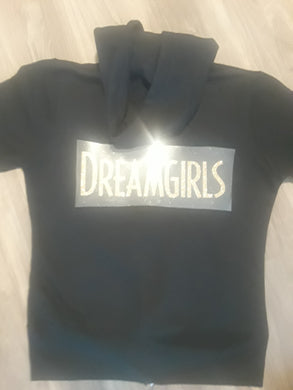 Cast Keepsake Full Zip Hoodie - Dreamgirls Gold Glitter