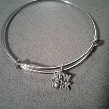 Bangle Bracelet with Charm - FREE SHIPPING