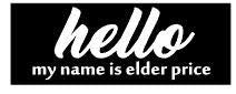 Hello My Name is Elder Price - Book of Mormon Sign